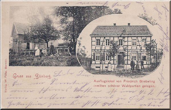 Ausflugslokal Friedrich Stiebeling, ca. 1913 zur Verfügung gestellt von Kurt Lembeck