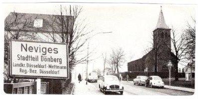 Foto von der Höhenstraße vor der Eingemeindung 1975 zur Verfügung gestellt über H.-J. Lüppken (keine Vergrößerung möglich)