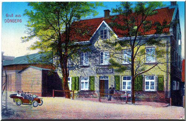 """Postkarte """"Gruß aus Dönberg"""" mit Gastwirtschaft zur Verfügung gestellt von Gunnar Kohleick"""