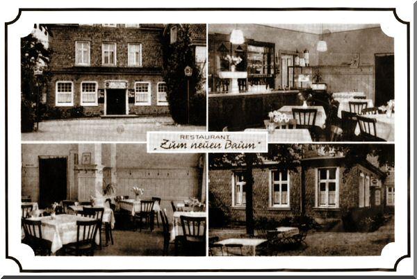 """Postkarte """"Restaurant Zum neuen Baum"""" zur Verfügung gestellt von Gunnar Kohleick"""