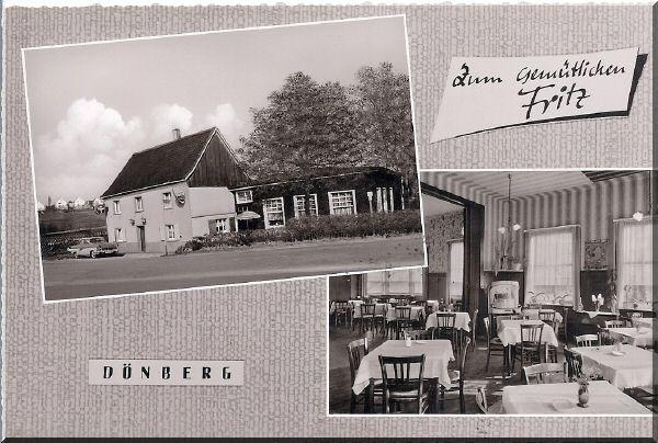 """Gaststätte """"Zum gemütlichen Fritz"""" Inhaber Arnold Hannemann, Horather Straße 249 zur Verfügung gestellt von Kurt Lembeck"""