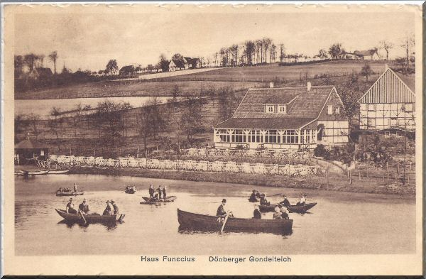 Haus Funccius, Dönberger Gondelteich ca. 1928 zur Verfügung gestellt von Kurt Lembeck