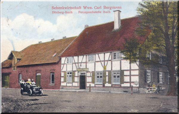 Schenkwirtschaft Wwe. Carl Bergmann, ca. 1918 zur Verfügung gestellt von Kurt Lembeck
